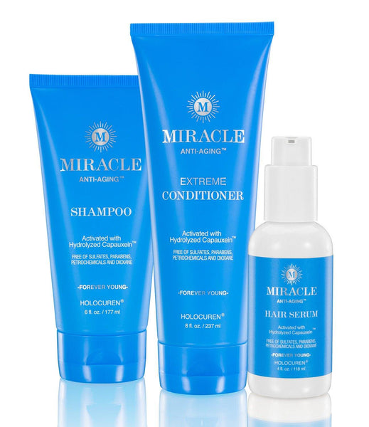 Miracle Anti-Aging Shampoo, Extreme Conditioner & Hair Serum - HOLOCUREN - Official Website