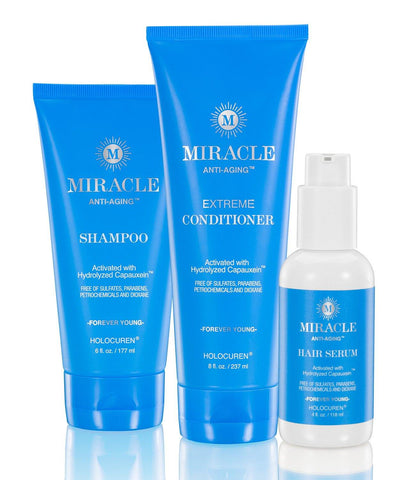 Miracle Anti-Aging Shampoo, Extreme Conditioner & Hair Serum (3-Pack) - HOLOCUREN - Official Website
