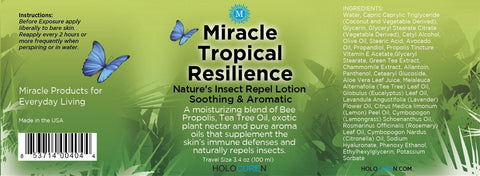 Miracle Tropical Resilience Insect Repel Lotion, 3.4oz travel size
