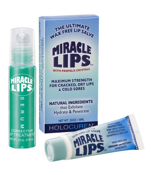 MIRACLE LIPS SALVE & SERUM COMBO PACK of Corrective Lip Balm - HOLOCUREN - Official Website