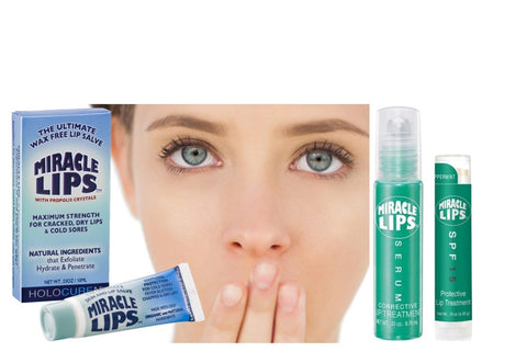 TRIO of MIRACLE LIPS: SALVE for problem lips plus SERUM & SPF15 Lip Balm - HOLOCUREN - Official Website