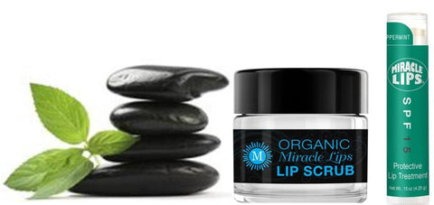 Miracle Lips Organic 2 in 1 Lip Scrub and Balm PLUS Miracle Lips SPF 15 Balm - HOLOCUREN - Official Website