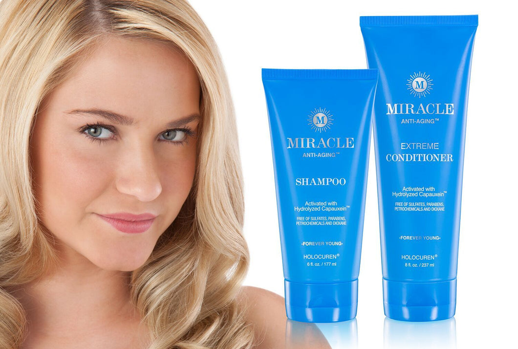 MIRACLE ANTI-AGING Shampoo and Conditioner TWO PACK - HOLOCUREN - Official Website