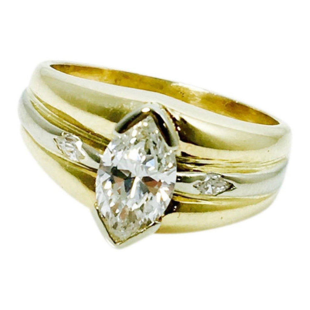 14K Marquise Diamond Ring Rings Miscellaneous