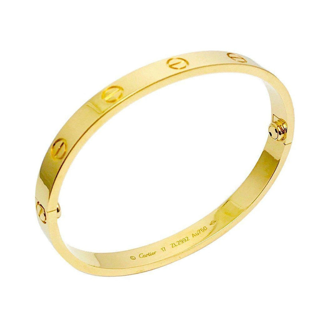 18 Karat Yellow Gold Cartier Love Bracelet - Bracelets