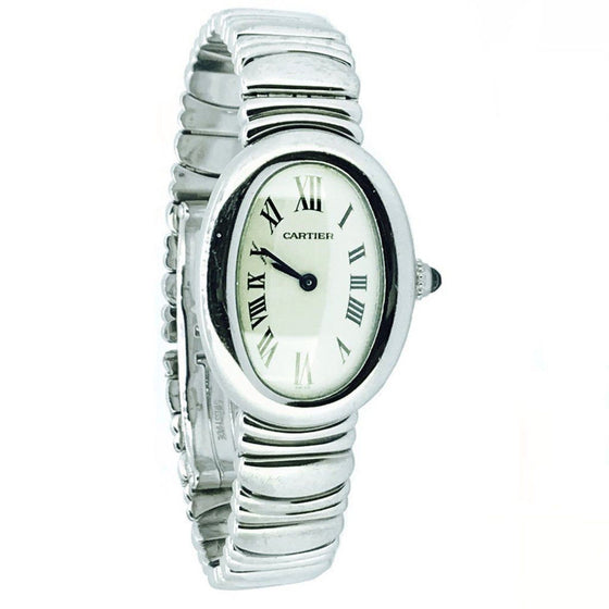 18K White Gold Cartier Baignoire Quartz Ladies' Wrist Watch Watches Cartier