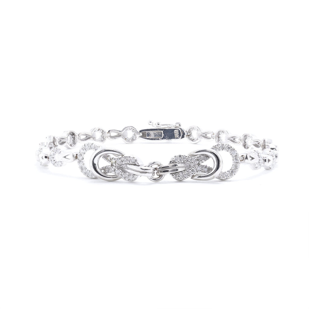 18k White Gold Diamond Bracelet Bracelets Miscellaneous