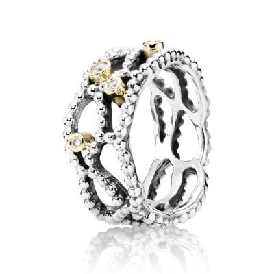 Pandora Two-Tone Ring with Diamonds