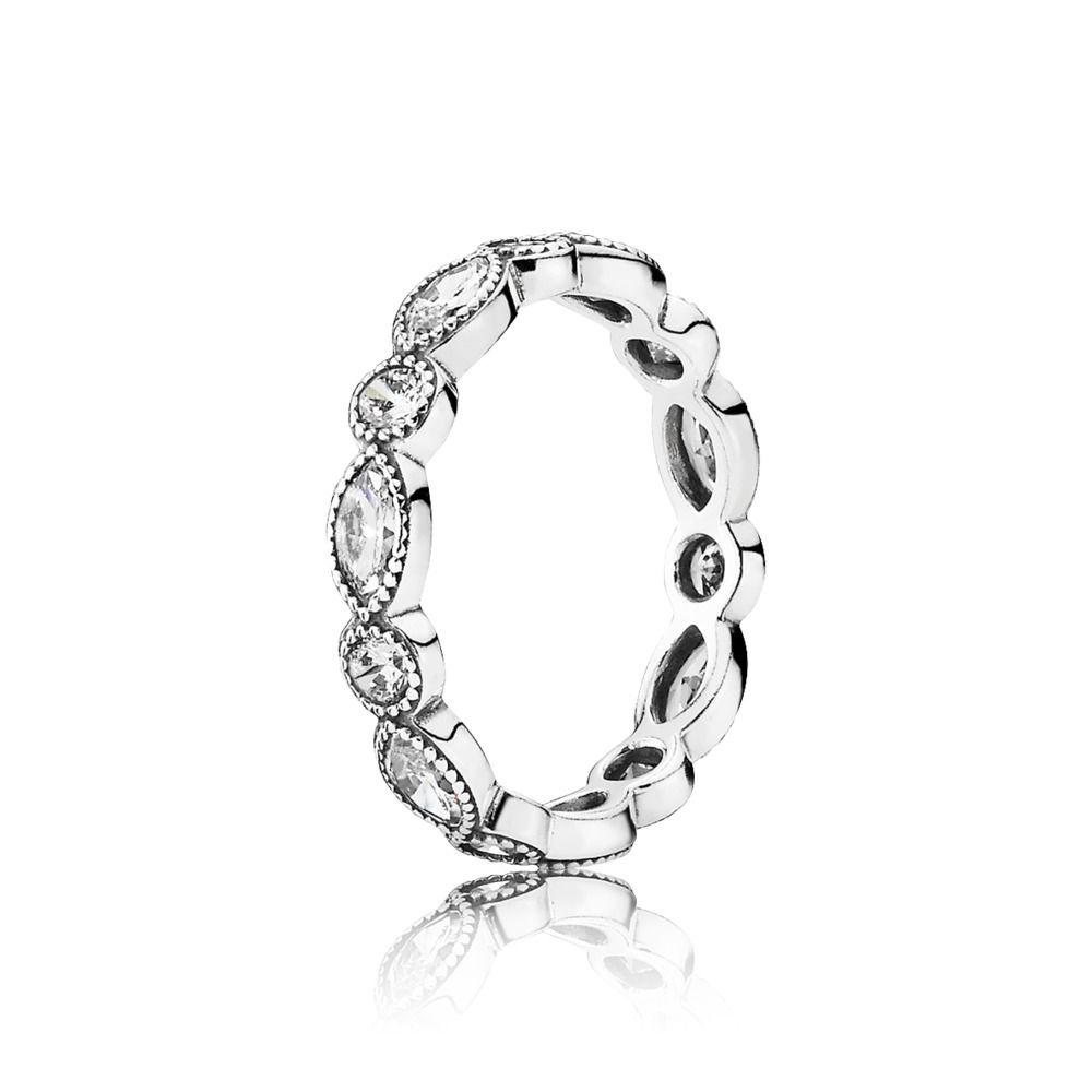 Pandora Alluring Brilliant Stackable Ring Rings Pandora