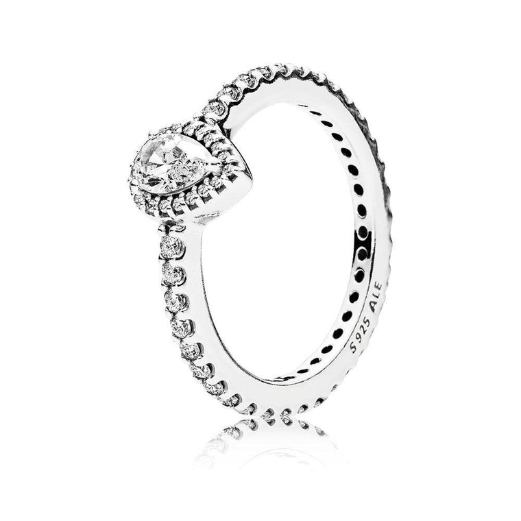 Pandora Radiant Teardrop Ring, Size 6