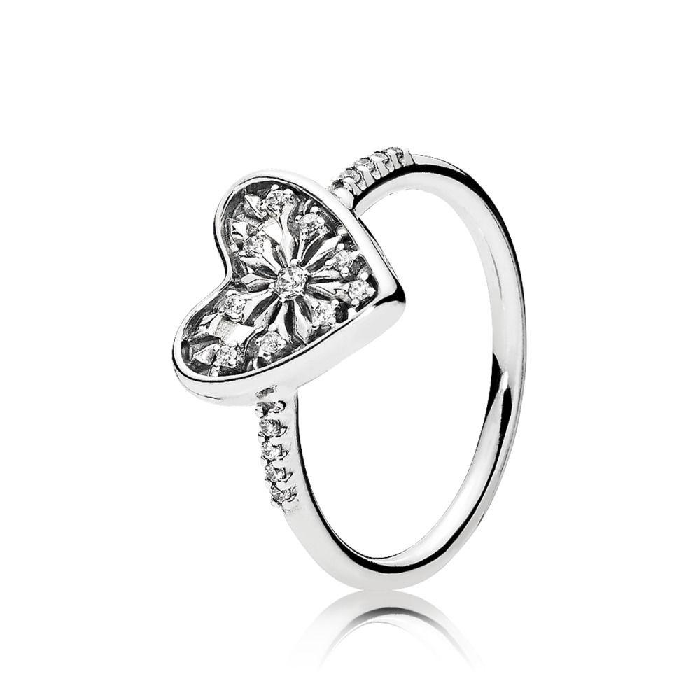 Pandora Heart of Winter Ring Size 6 3/4