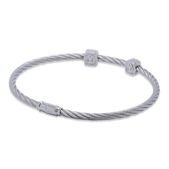 Charriol Two Station Diamond Cable Bracelet