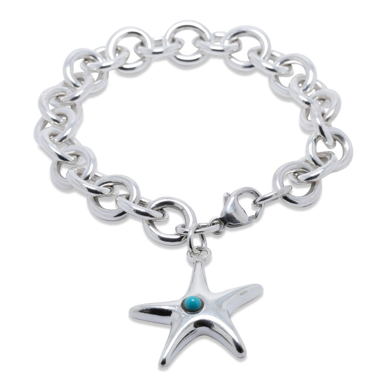 Tiffany & Co. Turquoise Starfish Charm Bracelet