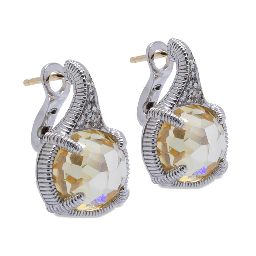 Judith Ripka Canary Crystal Earrings Earrings Judith Ripka