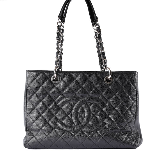 e2ae15a5f43dbf Chanel Black Caviar Leather Grand Shopping Tote (GST) Bags Chanel