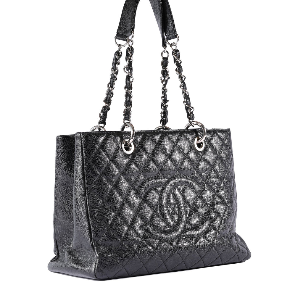Chanel Black Caviar Leather Grand Shopping Tote (GST)