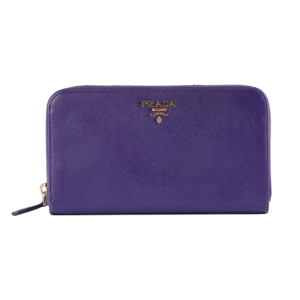 Prada Saffiano Zip Around Wallet Wallets Prada