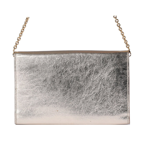 Yves Saint Laurent Metallic Belle Du Jour Chain Wallet