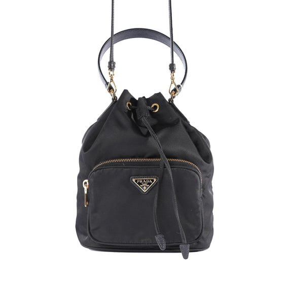 Prada Tessuto Nylon Mini Bucket Crossbody Bag