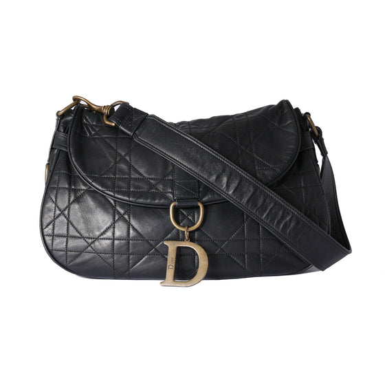 Christian Dior Cannage Vintage Flap Shoulder Bag