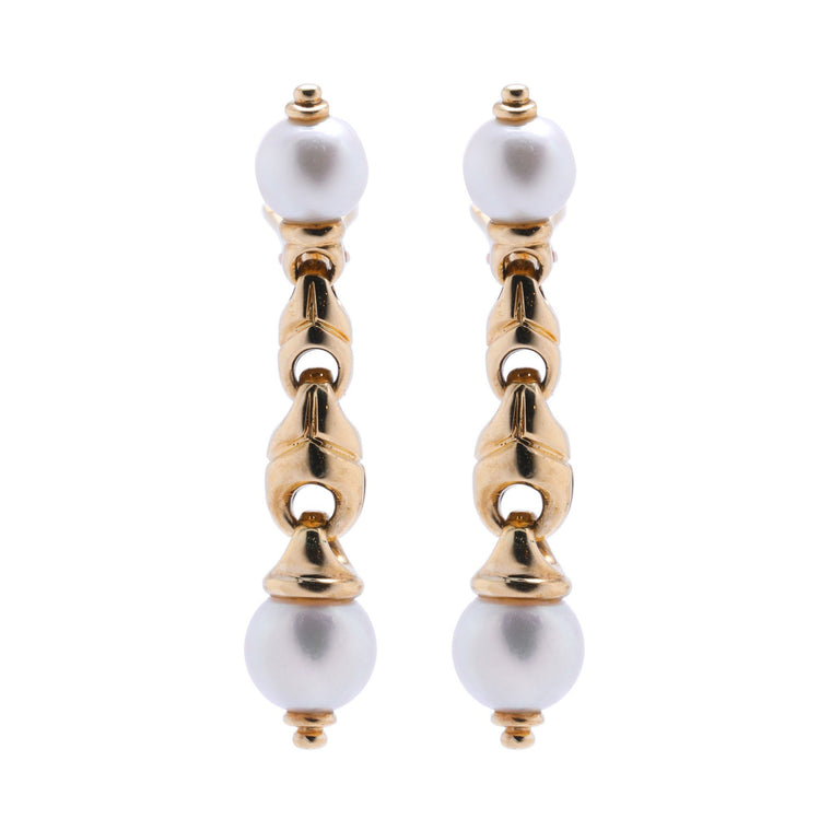 Bulgari Pearl Drop Earrings Earrings Bulgari