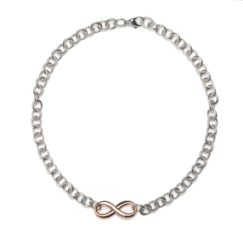 Tiffany & Co. Two-Tone Infinity Link Necklace Necklaces Tiffany & Co.