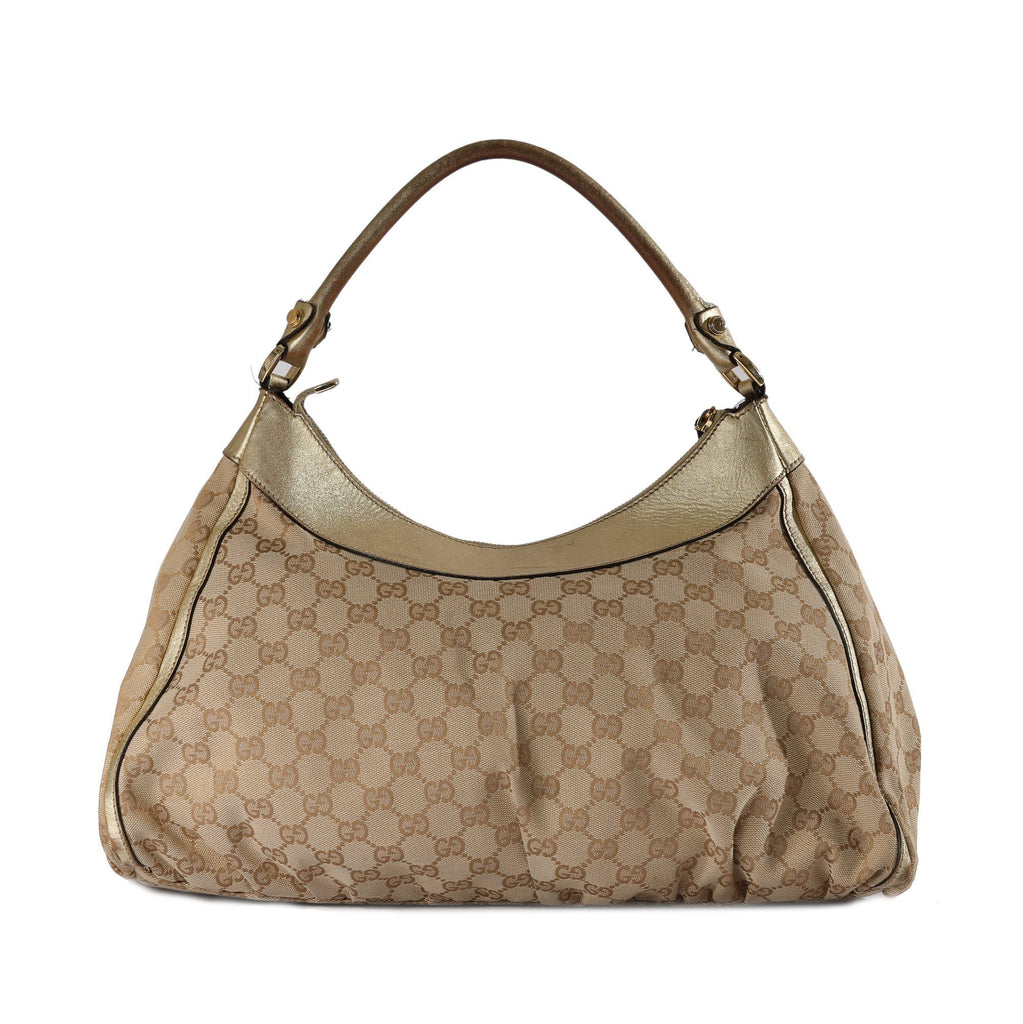 Gucci GG Canvas D-Ring Hobo Bags Gucci