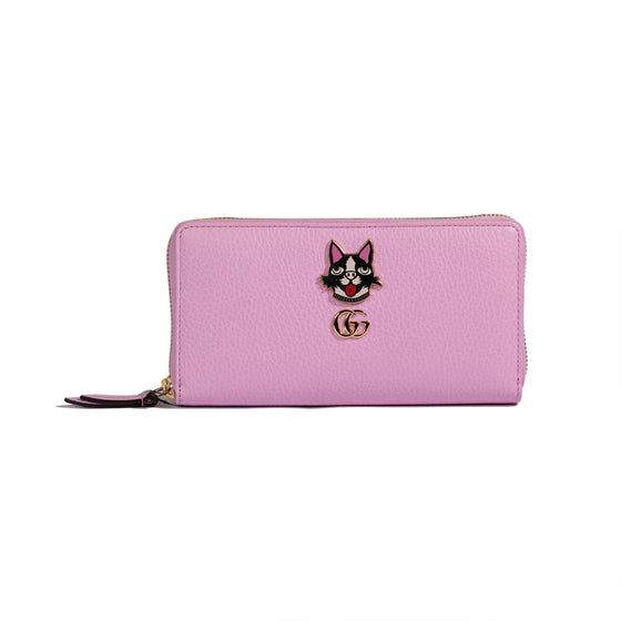 Gucci 2018 Limited Edition Bosco GG Marmont Zip Around Wallet
