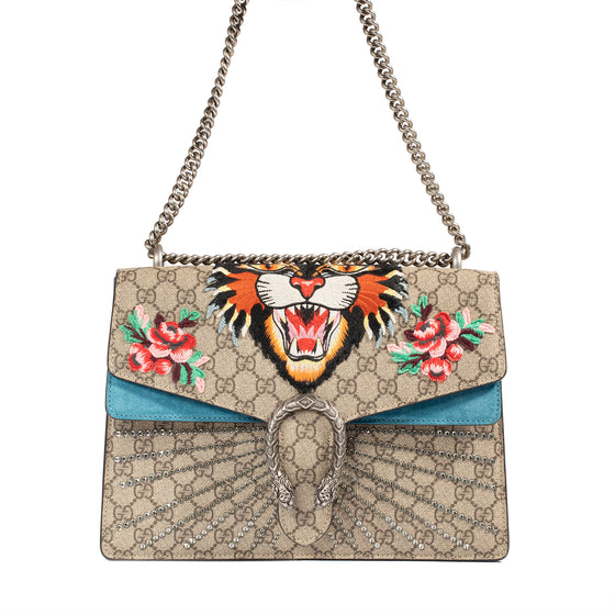 Gucci GG Supreme Angry Cat Medium Dionysus Shoulder Bag