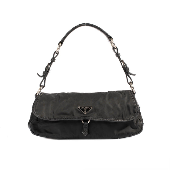 Prada Leather-Trimmed Tessuto Nylon Vien Bag
