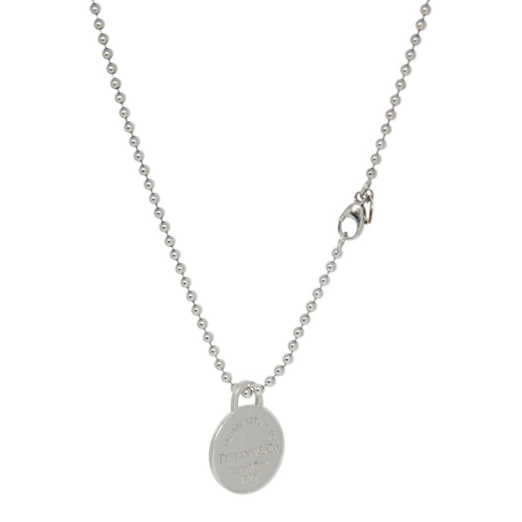 Tiffany & Co. Return to Tiffany Round Tag Pendant on Beaded Chain Necklaces Tiffany & Co.