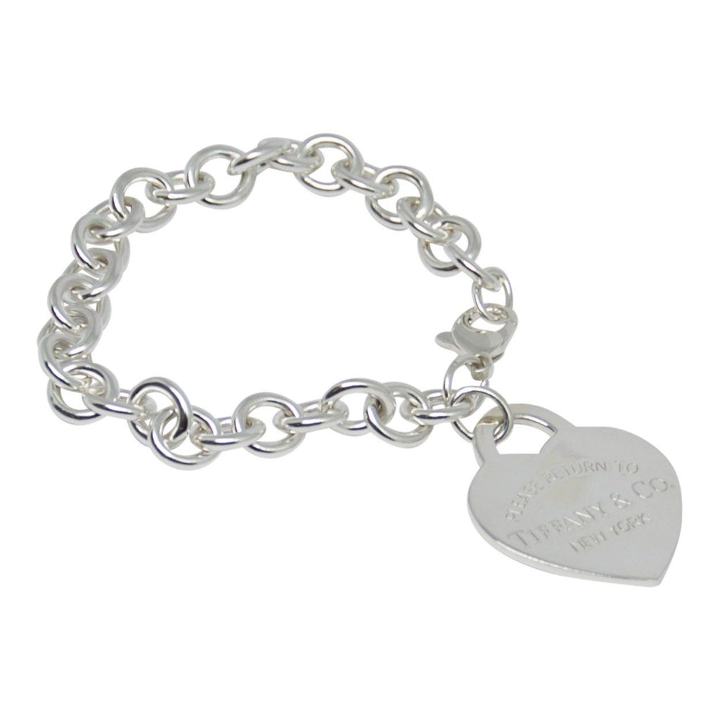 Tiffany & Co. Return To Tiffany Extra Large Heart Tag Charm Bracelet - Bracelets