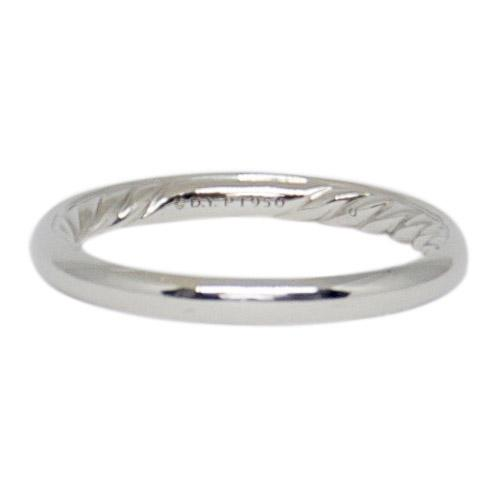 David Yurman Platinum Dy Eden Smooth Wedding Band - Rings