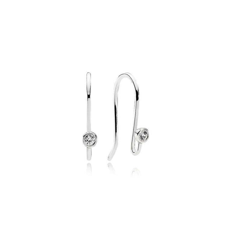 Pandora Earring Posts with Clear CZ