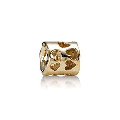 Pandora Gold Tunnel Of Love Charm - Charms & Pendants