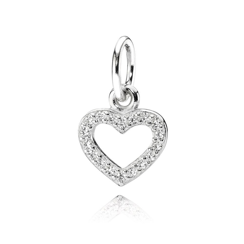 6ec64f36f Pandora Open Heart Pendant Charm with Clear CZ– Oliver Jewellery