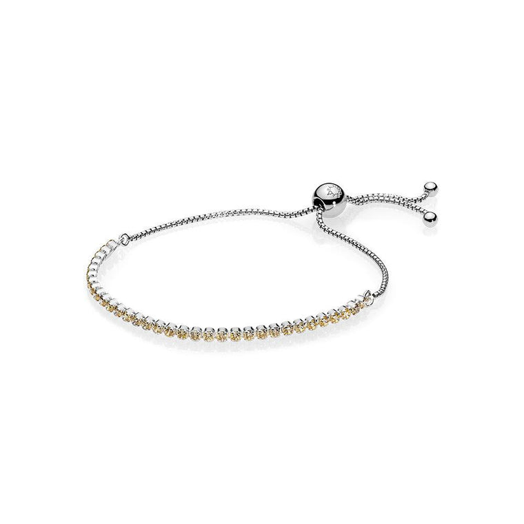 Pandora Sparkling Strand Bracelet with Golden Coloured CZ