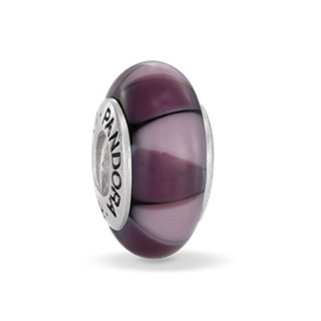Pandora Captivating Purple Murano Glass Charm - Charms & Pendants