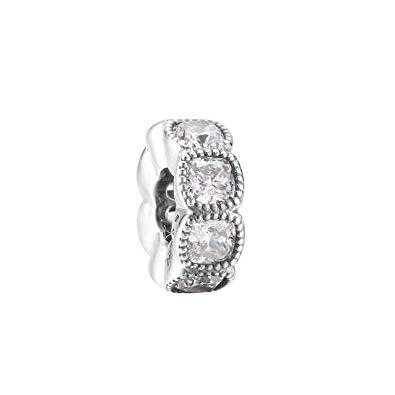 Pandora Alluring Cushion Spacer Charm with Clear CZ Charms & Pendants Pandora