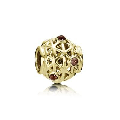 Pandora Gold Constellation Charm with Rhodolite Charms & Pendants Pandora