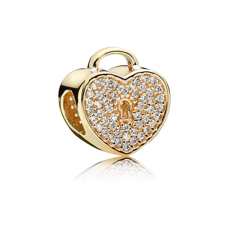 Pandora Gold Heart Lock Charm