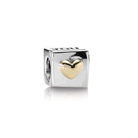 Pandora Two-Tone I Love You Charm Charms & Pendants Pandora