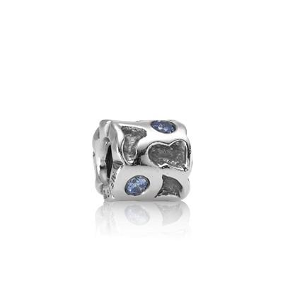 Pandora Vintage Blue Pond Charm With Blue Cz - Charms & Pendants