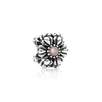 Pandora Birthday Blooms October Pink Opal Charm - Charms & Pendants