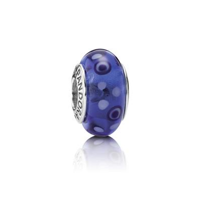 Pandora Blue Bubbles Murano Glass Charm Charms & Pendants Pandora