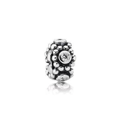 Pandora Her Majesty Spacer Charm With Clear Cz - Charms & Pendants