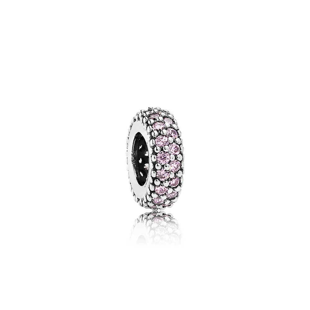 Pandora Inspiration Within Spacer Charm With Pink Cz - Charms & Pendants