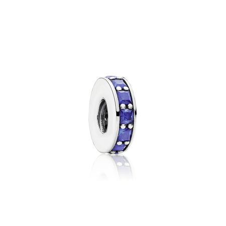 Pandora Eternity Spacer Charm With Royal Blue Crystals - Charms & Pendants