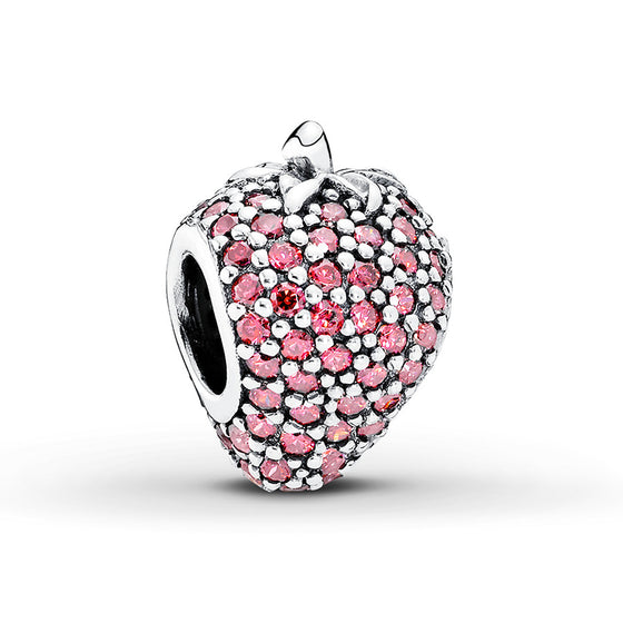 Pandora Pave Strawberry Charm