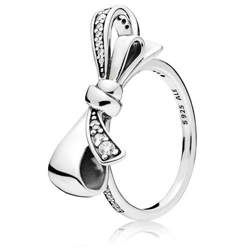 Pandora Brilliant Bow Ring with Clear CZ Size 5 3/4